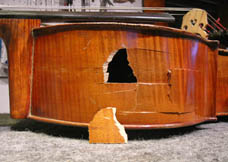 Cello rib with hole